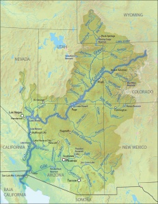 Map of the Colorado River